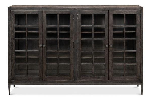 Bauhaus Bookcase Acacia Hammered Metal