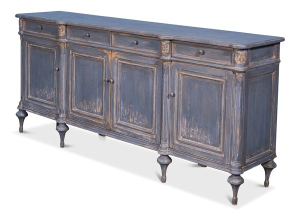 Lilac High Leg Sideboard Blue Traditional