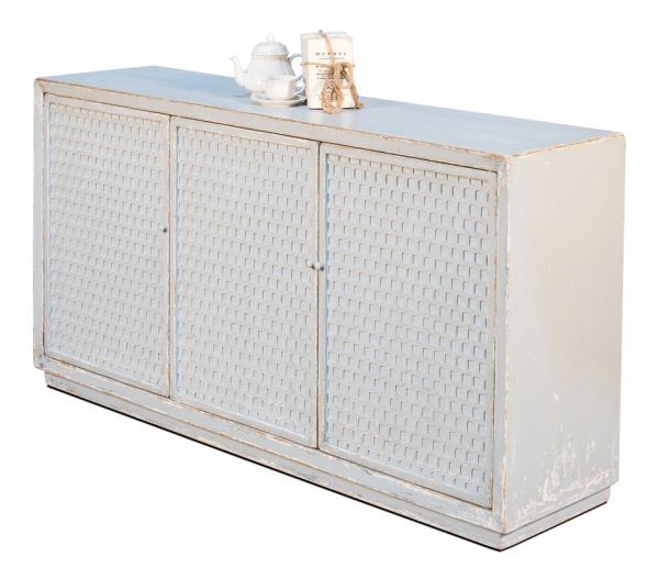 Honeycomb Hideout Sideboard Aquamarine Blue Finish