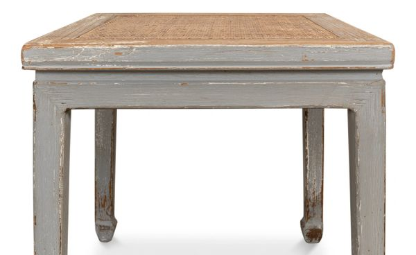 Square Table With Rattan Stool Market Favorite