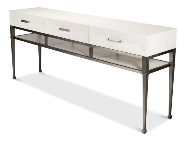 Working White Media Console