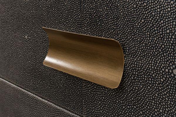 Three Drawer Sidetable Shagreen Antique Grey Finish