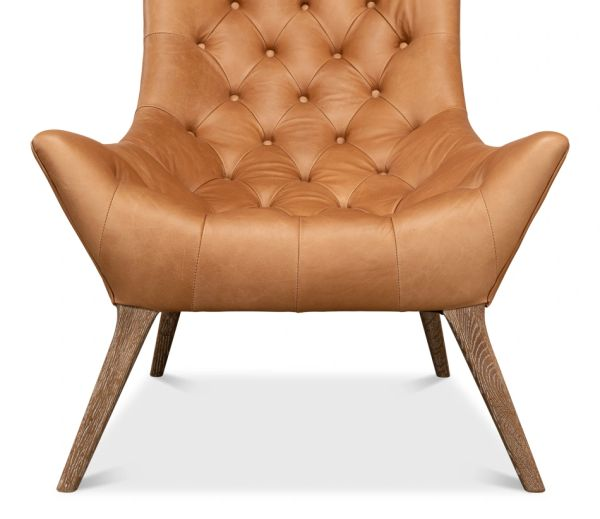Mod Squad Light Brown Leather Chair