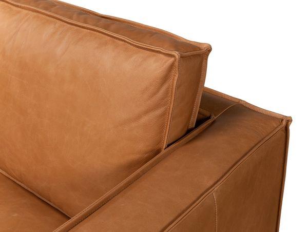 Modern Leather Sofa Light Brown Iron