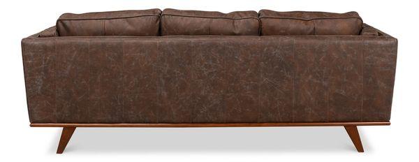Mod Squad Antique Brown Leather Sofa