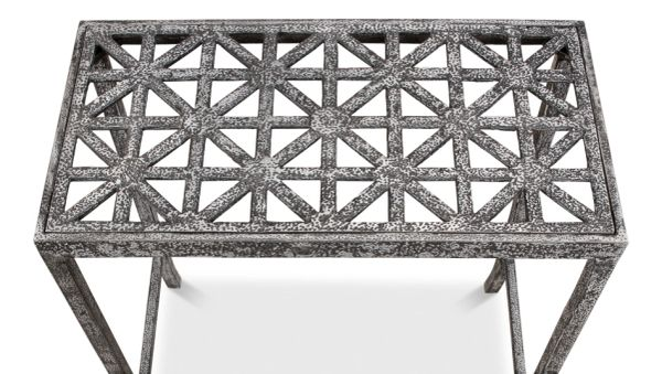 Cast Iron Silver Drink Table