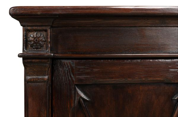 Sideboard Cabinet Bow & Arrow Dark Brown Pine Traditional