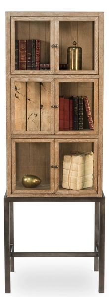 Display Cabinet on Stand in Light Oak