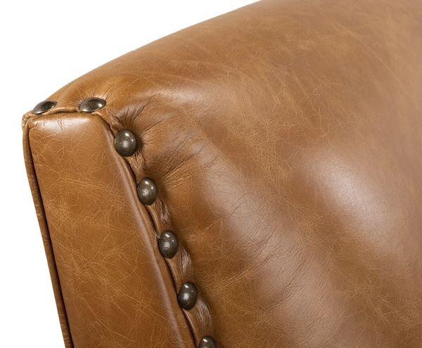 Cuba Brown Leather Swivel Lounge Chair