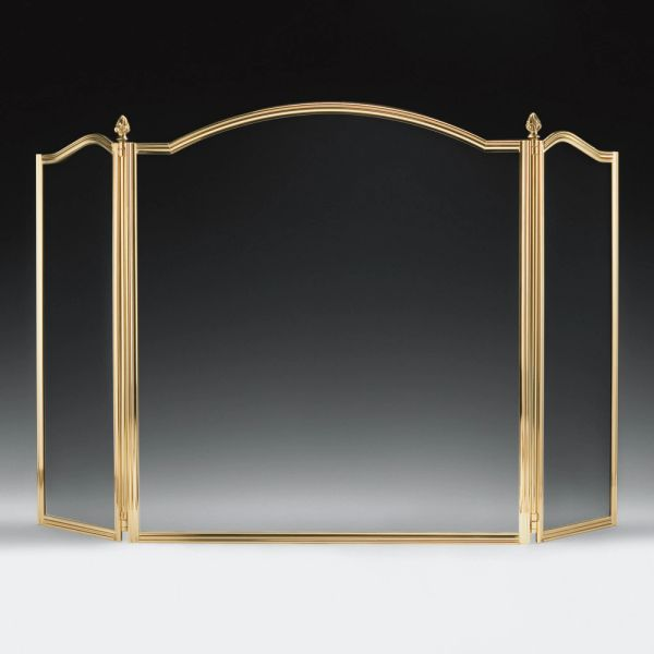 Lacquered Cast Brass Fireplace Screen Black Mesh Handmade in Italy