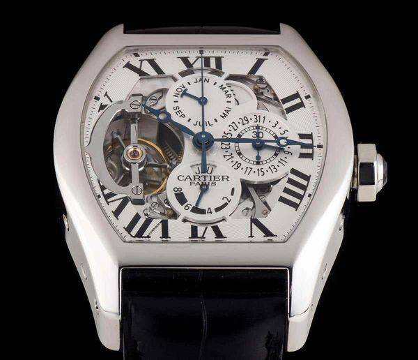 Cartier Platinum Privee Tourbillon Perpetual Calendar Manual Wind Wristwatch One of Fifteen in the World!