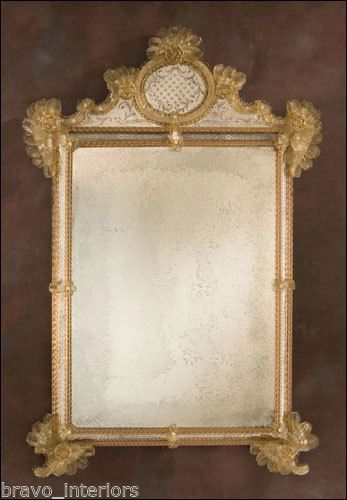 Venetian Mirror Gold Antiqued Made in Italy