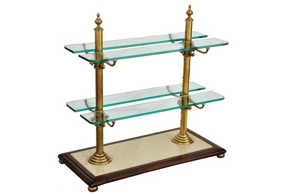 Serving Stand Dessert Display Glass Brass