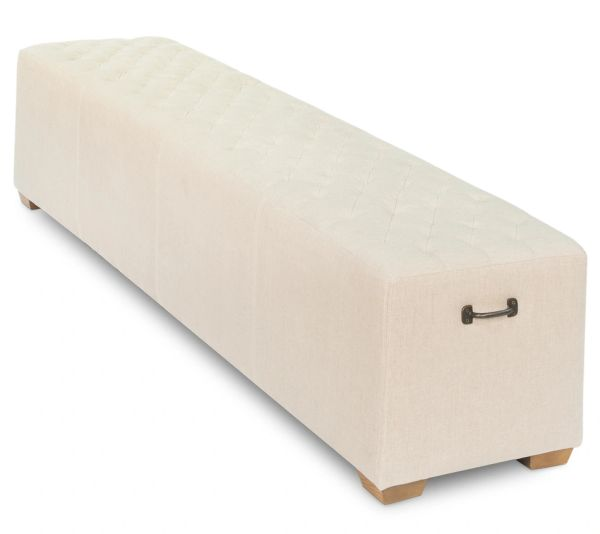 Long Bench in Tufted Beige 6'