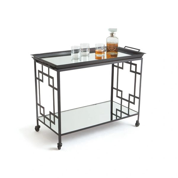 Art Deco Bar Cart w/ Wheels