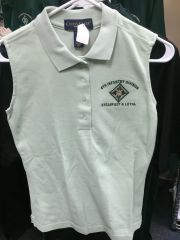 Ladies no sleeve polo