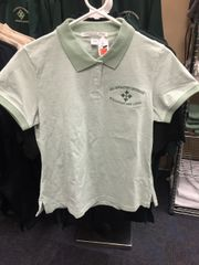 Ladies multi colored green polo