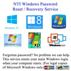 Windows Password Reset Service