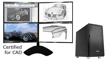 QuadStation 4 CAD Workstation