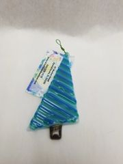 "Diagonal lines Christmas ""tree"" Ornament"