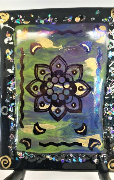Flower Fused Glass Display Tile