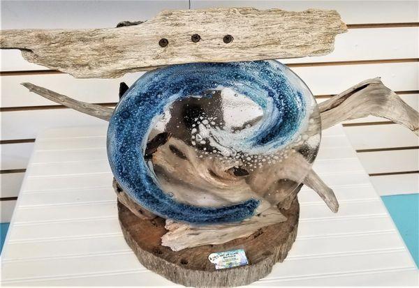 Gulf wave driftwood