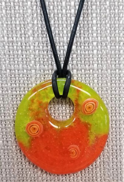 Holey Orange Necklace