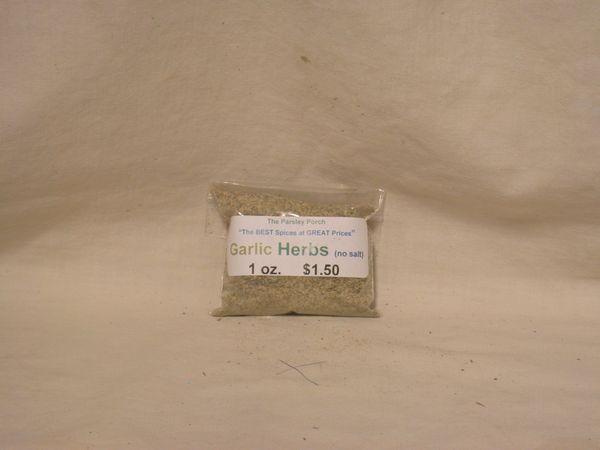 Garlic Herbs (no salt), 1 oz.