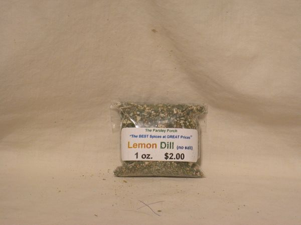 Lemon Dill (no salt), 1 oz.