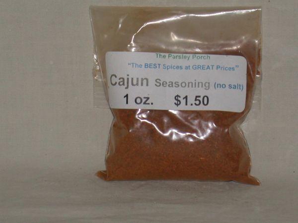 Cajun Seasoning (no salt), 1 oz.