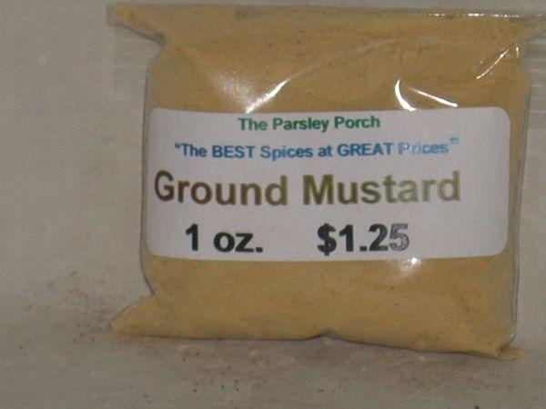 Mustard, yellow, Ground, .8 oz.