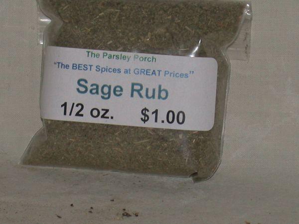 Sage rub, 1/2 oz.