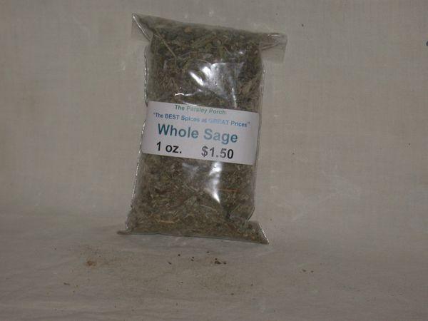 Sage, whole, 1 oz.