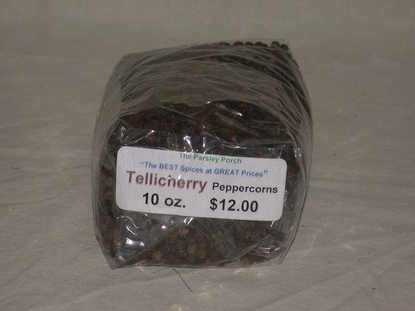Peppercorns, Tellicherry, 10 oz.