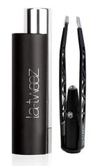 LaTweez Pro Illuminating Tweezers with Lipstick Case, Black,