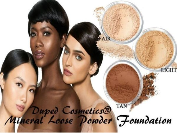 Duped Cosmetics® Loose Powder Foundation |Choose Your Shade