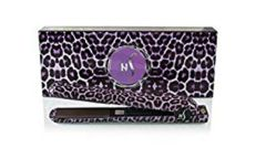 Herstyler Animal Print 1.5 inches Ceramic Flat Iron (Purple Leopard)
