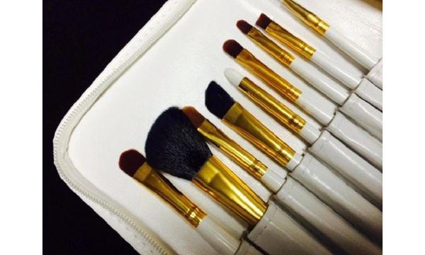 Dollface 20 Pc White Professional Brush Set & Travel Case
