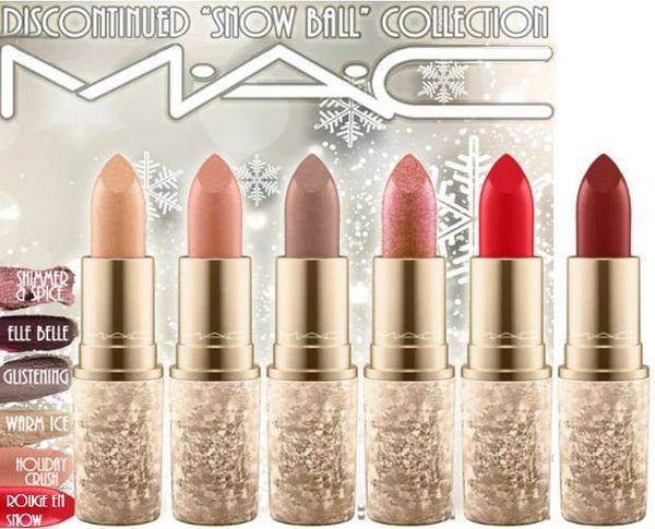 "MAC Cosmetics | ""Snow Ball"" Lipstick Collection Choose Your Shade"