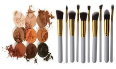 The Bronze Palette by Duped +10 Pcs Professional Synthetic Brush Set