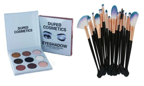The Smoky Palette by Duped + Pro 20pcs Makeup Brushes Tool Set