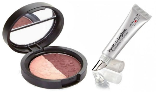 Laura Geller Eyeshadow Duo +Laura Geller Banish-N-Brighten Concealing
