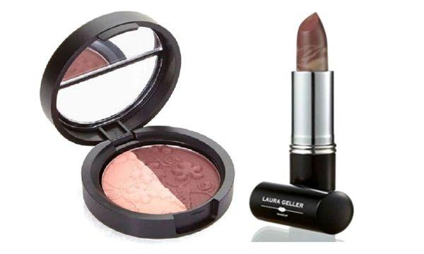 Laura Geller Eyeshadow Duo+Berry Banana Lipstick Set
