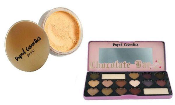 Duped Banana Loose foundation Powder + Candy Bar Eyeshadow Palette Set