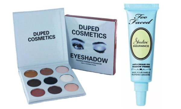 The Smoky Palette by Duped +Too Faced Eye Shadow Insurance Primer Set