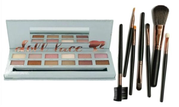 """Doll Face She's got a """"Nude' Tude"""" Eyeshadow Palette W/ Doll Face 7Pcs Brush Set"""