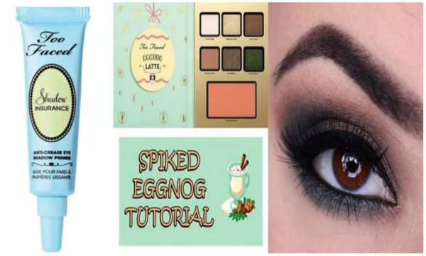 Too Faced Shadow Insurance 24 Hours Anti-Crease Eye shadow Primer & Too Faced Eggnog Latte Palette Set
