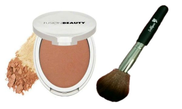 Fusion Beauty Glow Fusion Micro-Tech Bronzer+Dollface Foundation Brush Set