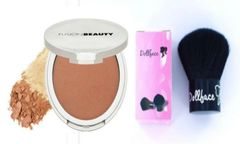 Fusion Beauty Glow Fusion Micro-Tech Bronzer+Dollface kabuki Brush Set