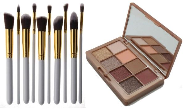 Khroma Beauty Kourtney's Kardazzle &10Pcs Professional Synthetic Brush Set